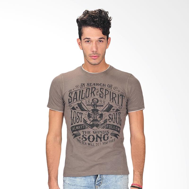 Simplapy's Panquera Print Men's T-Shirt - Brown Extra diskon 7% setiap hari Extra diskon 5% setiap hari Citibank – lebih hemat 10%
