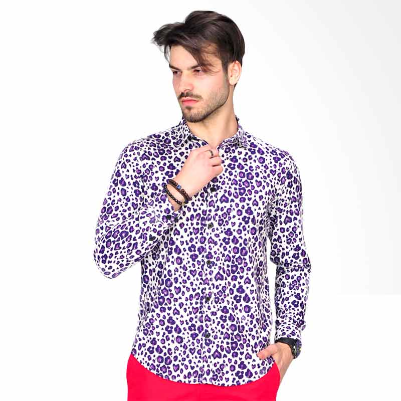 SJO & SIMPAPLY Gabriel Shirt Atasan Pria - Purple