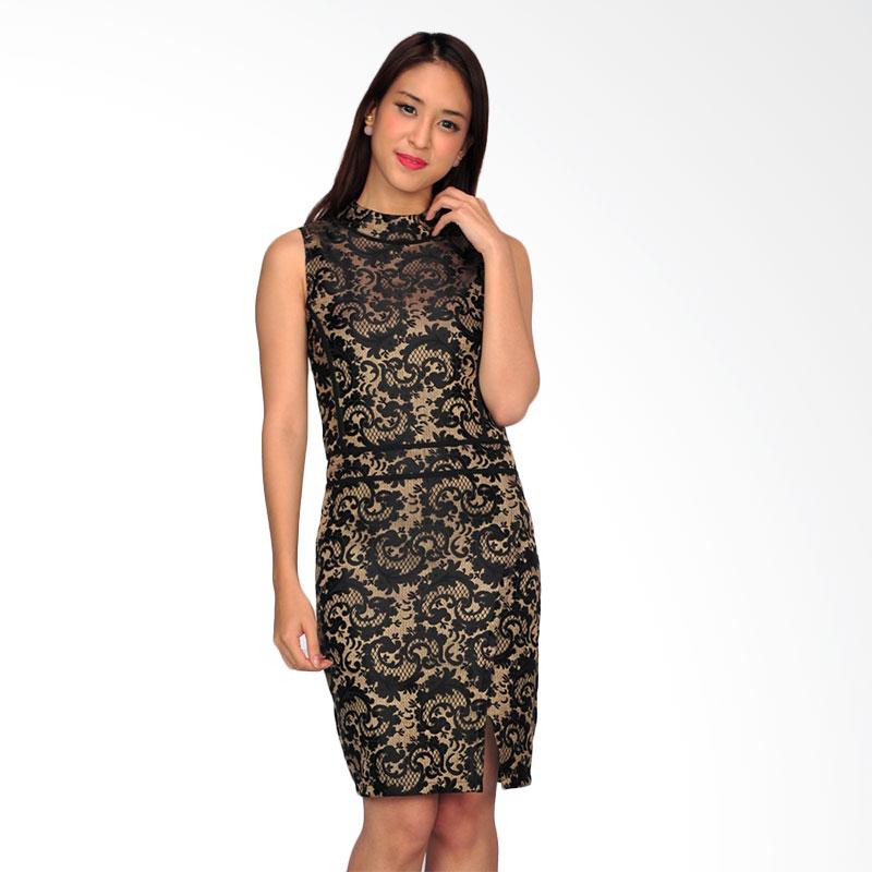 SJO & Simpaply Cartier Women's Dress Wanita - Black Gold