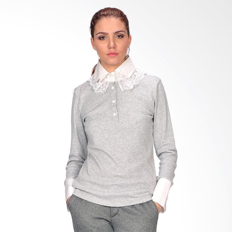SJO & Simpaply Fantastic Women's Shirt Atasan Wanita - Grey