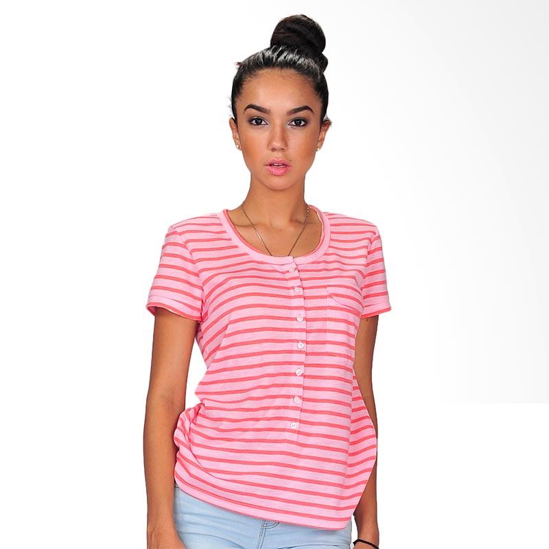SJO's Fashioner Pink Stripe Women's Blouse