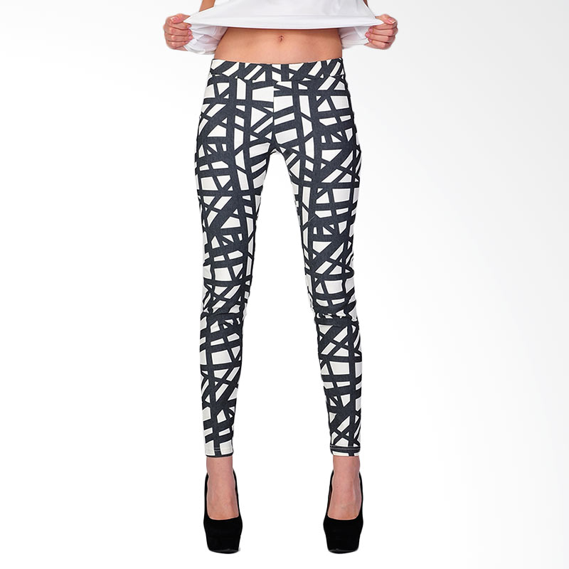 SJO's Legging Women's Pants - White Black