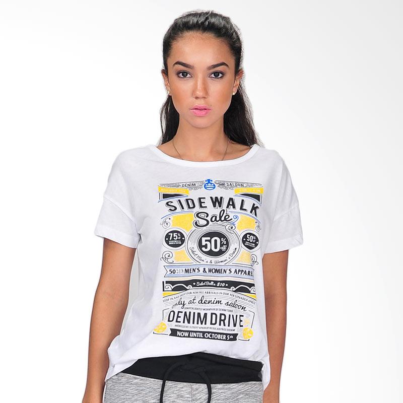 SJO's Sidewalk Women's T-Shirts - White