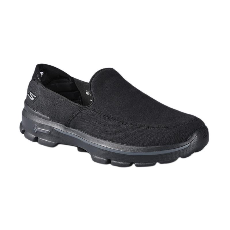 Skechers GOwalk 3 Goga Mat Canvas BBK SKE53982BBK Sepatu Olahraga - Black  harga ... 552202a963