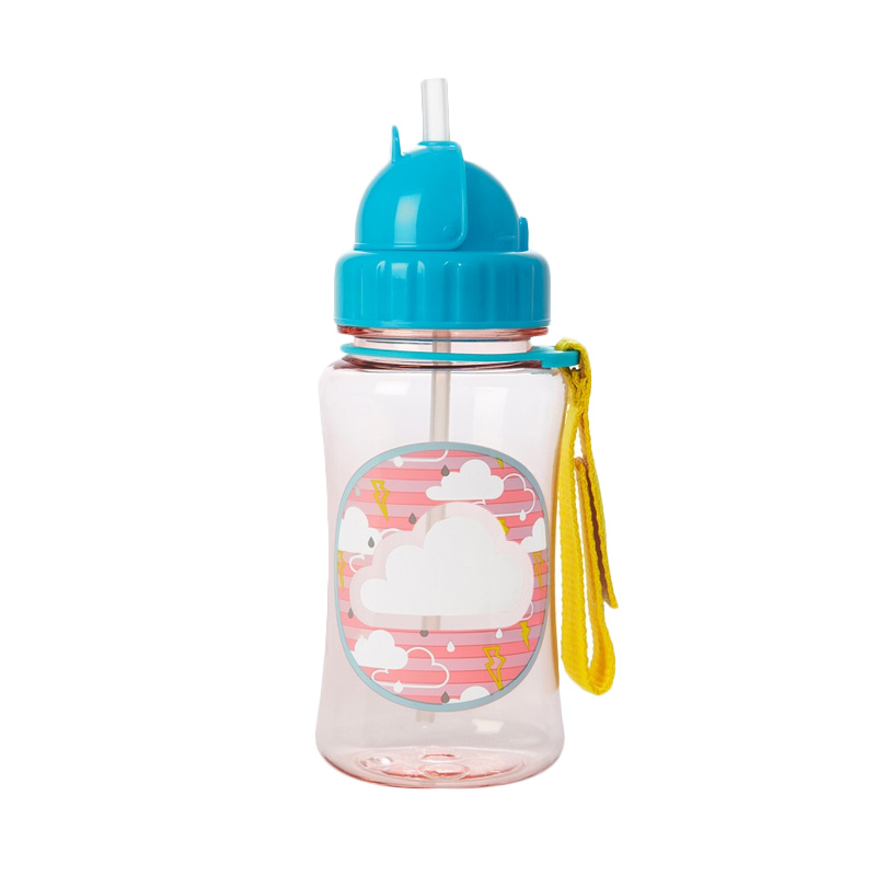 Skiphop Forget Me Not Straw Bottle - Cloud
