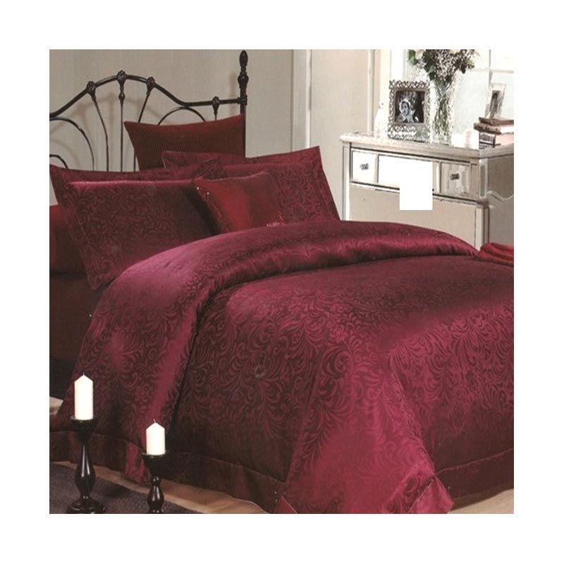 Sleep Buddy Blanket Sutra Tencel Curly Maroon Selimut