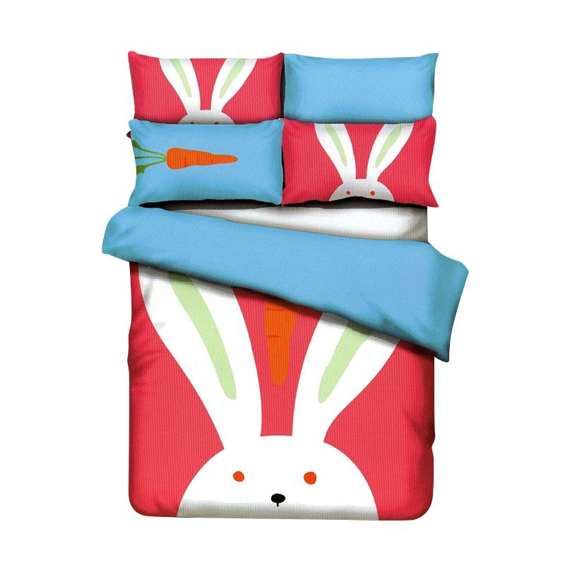 Sleep Buddy Cotton Sateen Bunny Kids Pink Sprei