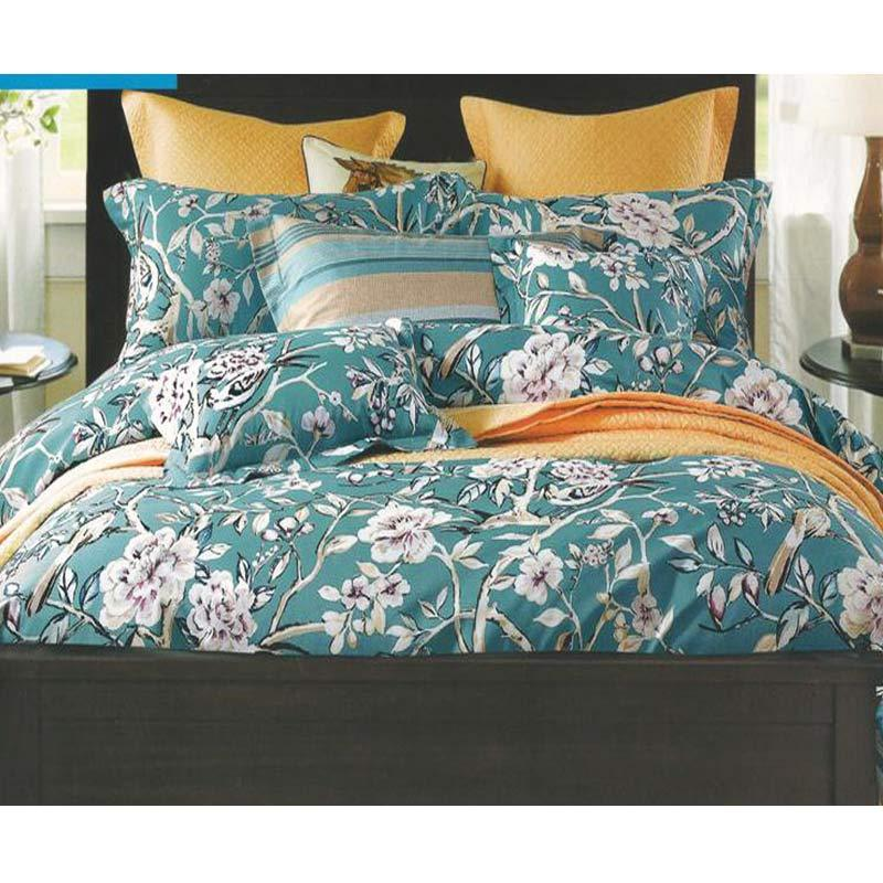 Sleep Buddy Cotton Sateen Daisy Green Bed Sheet Sprei