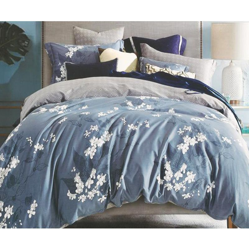 Sleep Buddy Cotton Sateen Lily Grey Bed Sheet