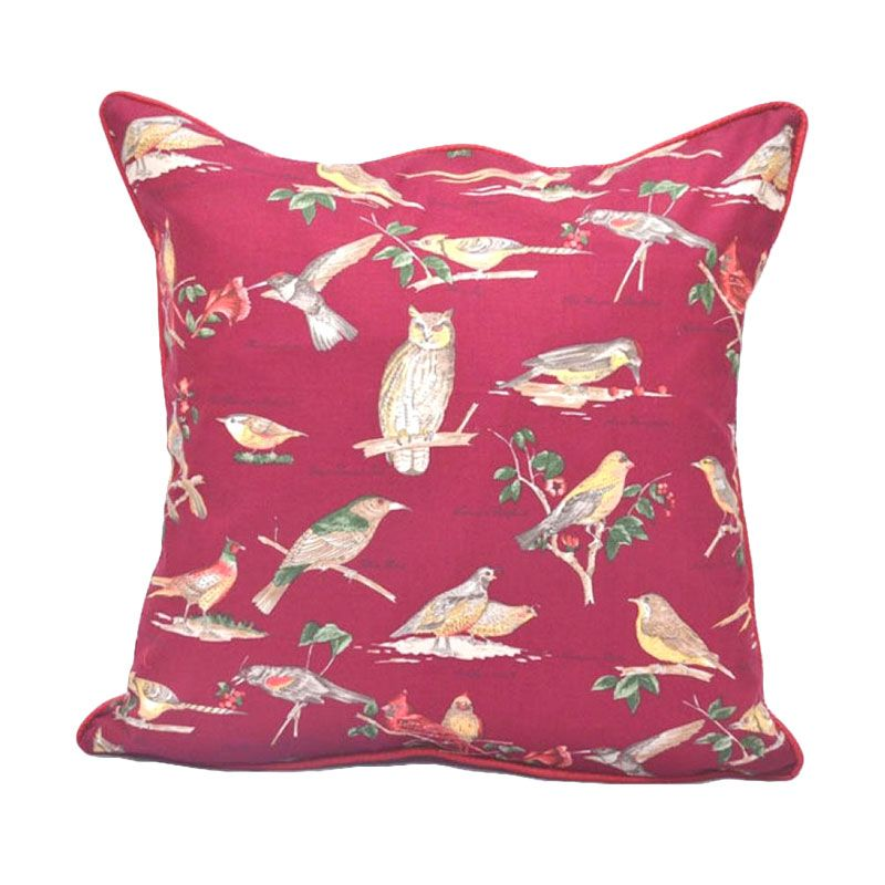 Sleep Buddy Cushion Birdie Maroon + Isi