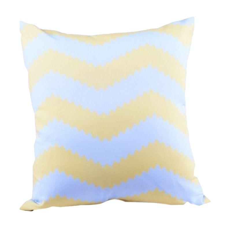 Sleep Buddy Cushion Chevron Blue and Yellow + Isi