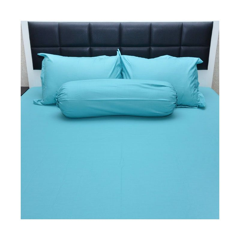 Sleep Buddy Extra King Size Bed Sheet Katun Plain Tosca