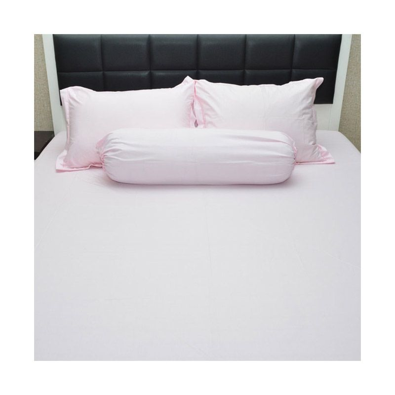 Sleep Buddy Queen Size Bed Sheet Katun Plain Baby Pink