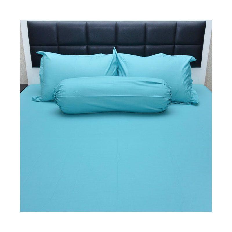 Sleep Buddy Queen Size Bed Sheet Katun Plain Tosca