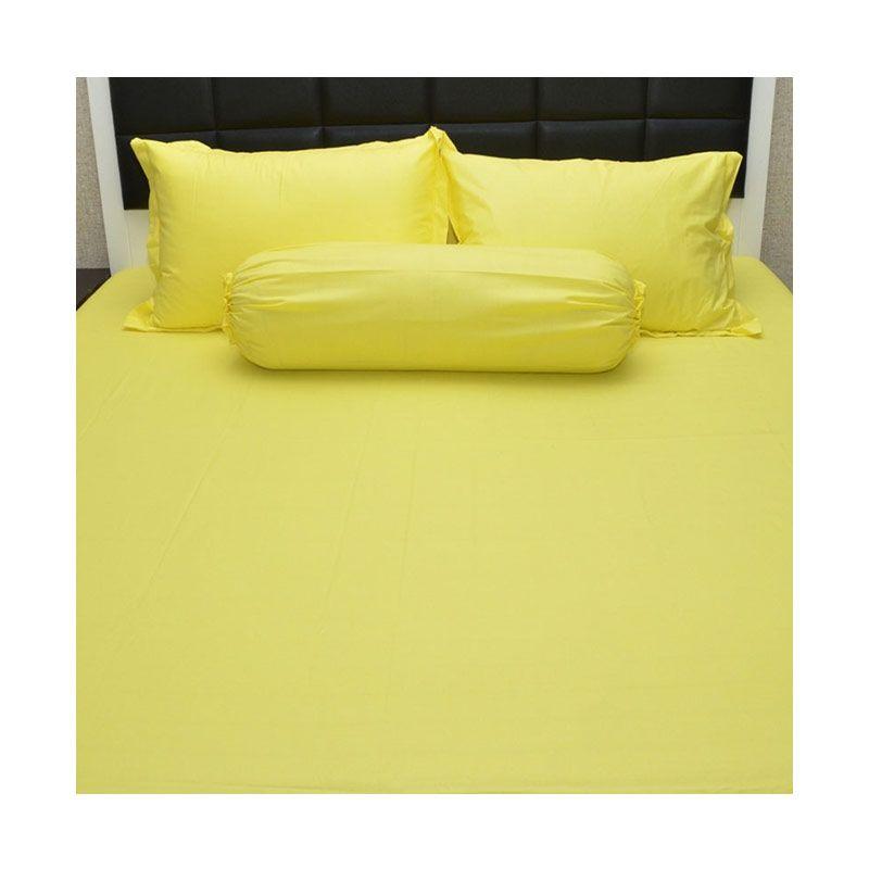 Sleep Buddy Queen Size Bed Sheet Katun Plain Yellow