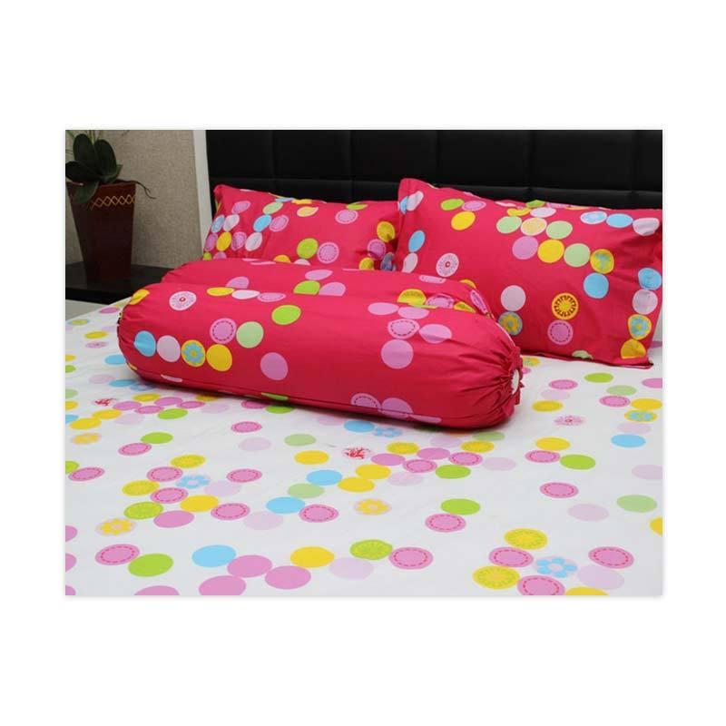 Sleep Buddy Queen Size Bed Sheet Katun Simply Polka White