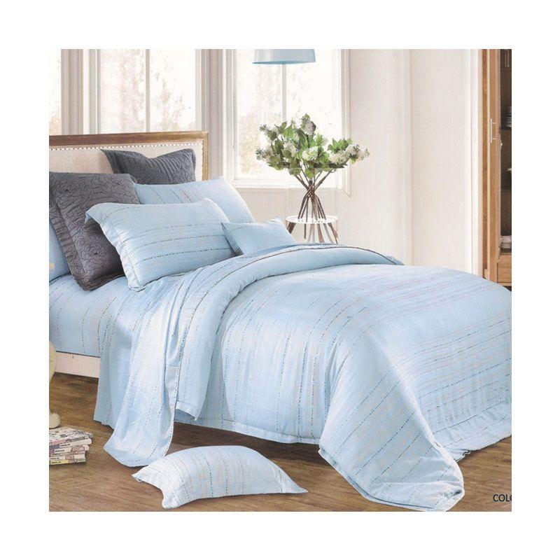 Sleep Buddy Sutra Tencel Blue Bed Sheet Set Sprei