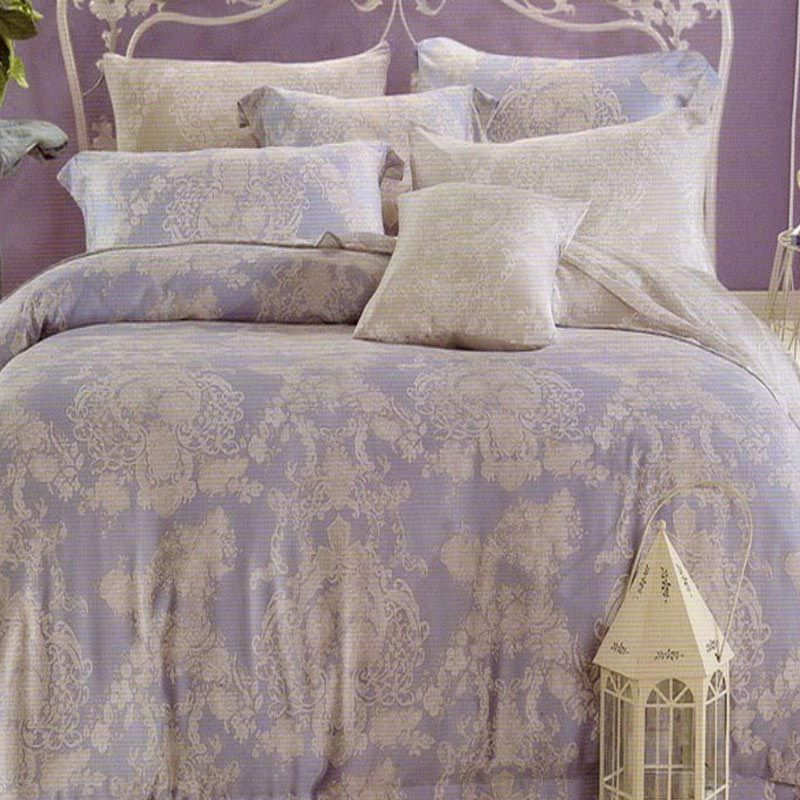 Sleep Buddy Sutra Tencel Classy Sister Blue Bed Sheet