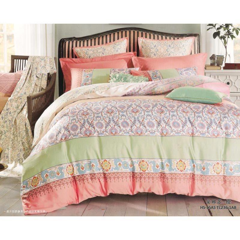 Sleep Buddy Sutra Tencel Flippy 1 Peach Bed Sheet