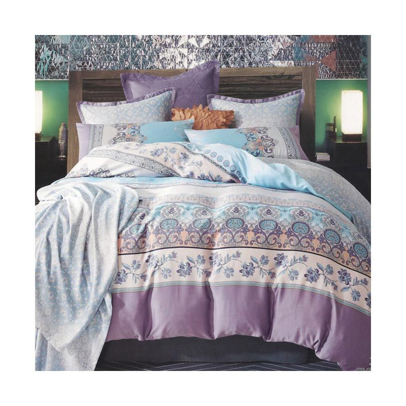 Sleep Buddy Sutra Tencel Full Classic Bed Sheet Set Sprei