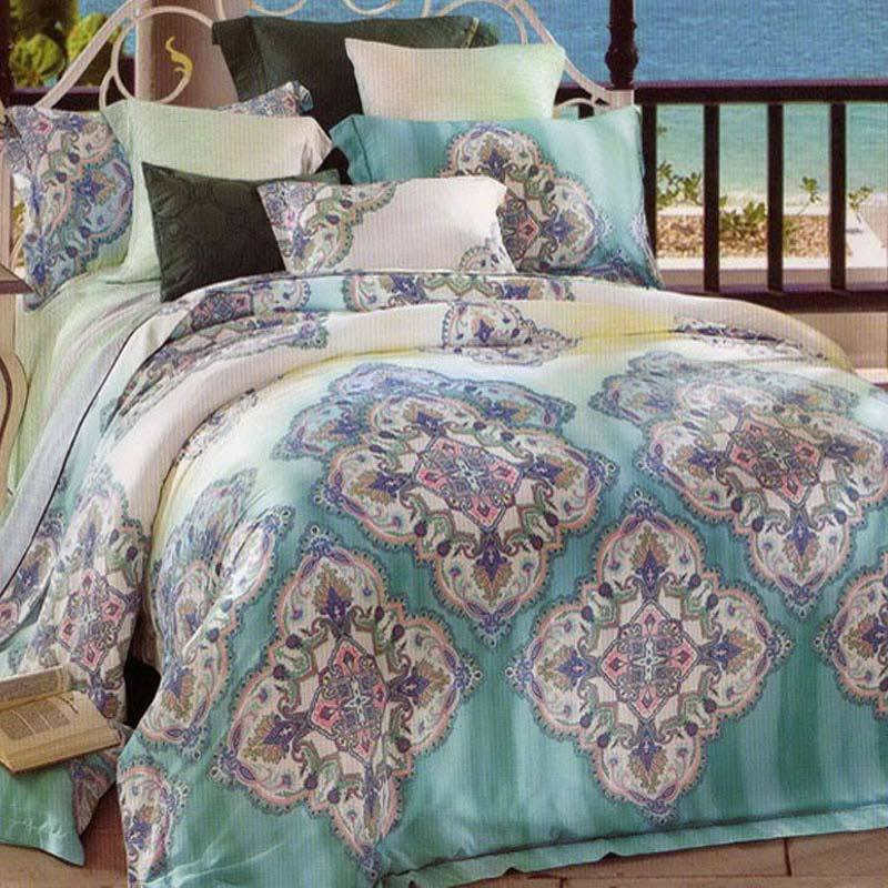 Sleep Buddy Sutra Tencel Green Set Sprei dan Bed Cover