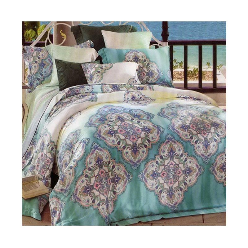 Sleep Buddy Sutra Tencel Greeny Go Set Sprei and Bed Cover