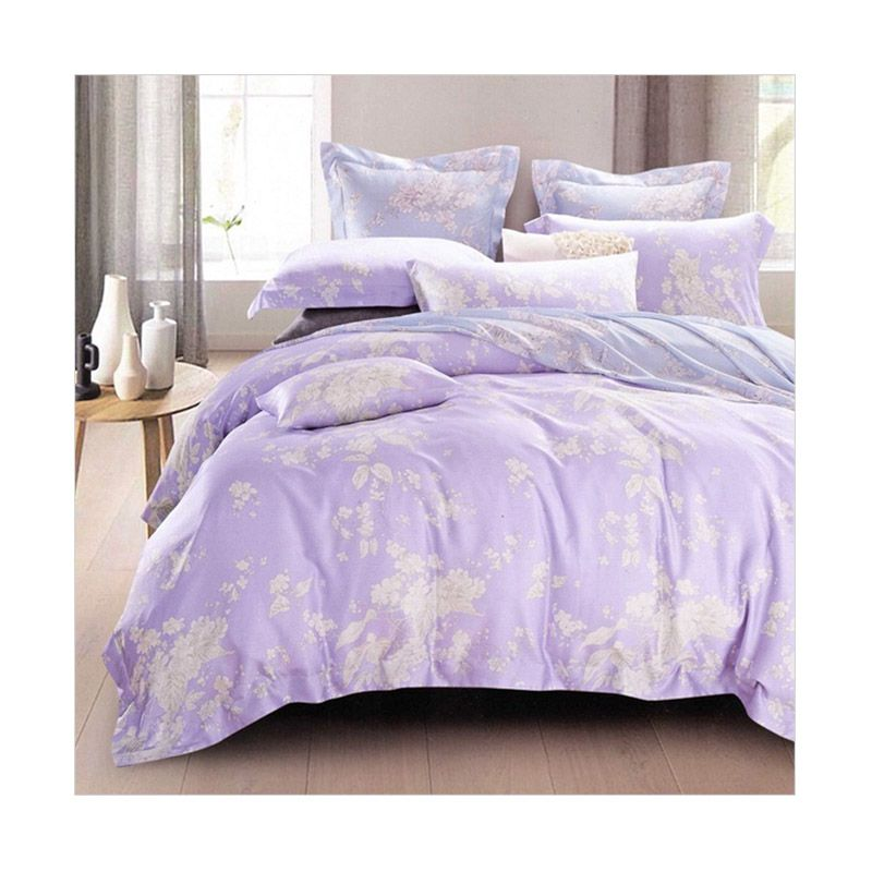 Sleep Buddy Sutra Tencel Soft Purple Set Sprei
