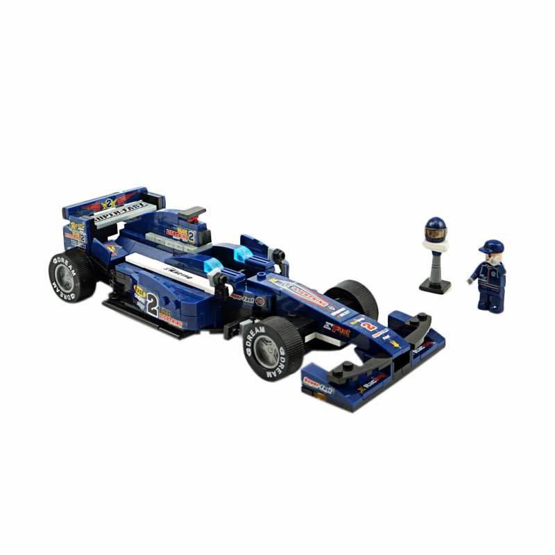 Sluban F1 Racing Car Blue Lightning - Mainan Rakit