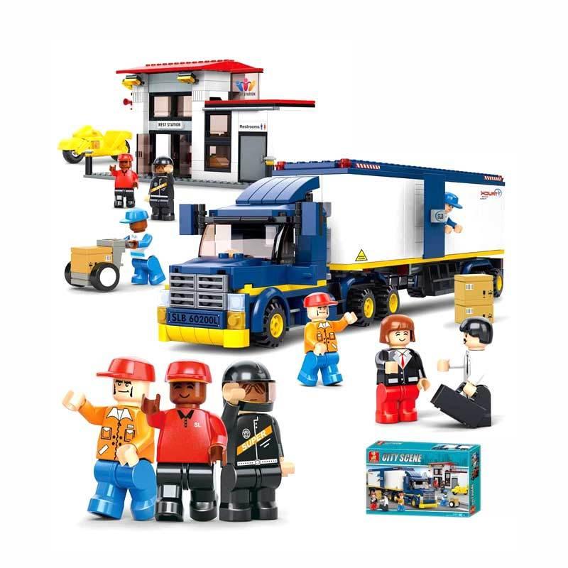 Sluban Heavy Duty Van Truck - Mainan Rakit