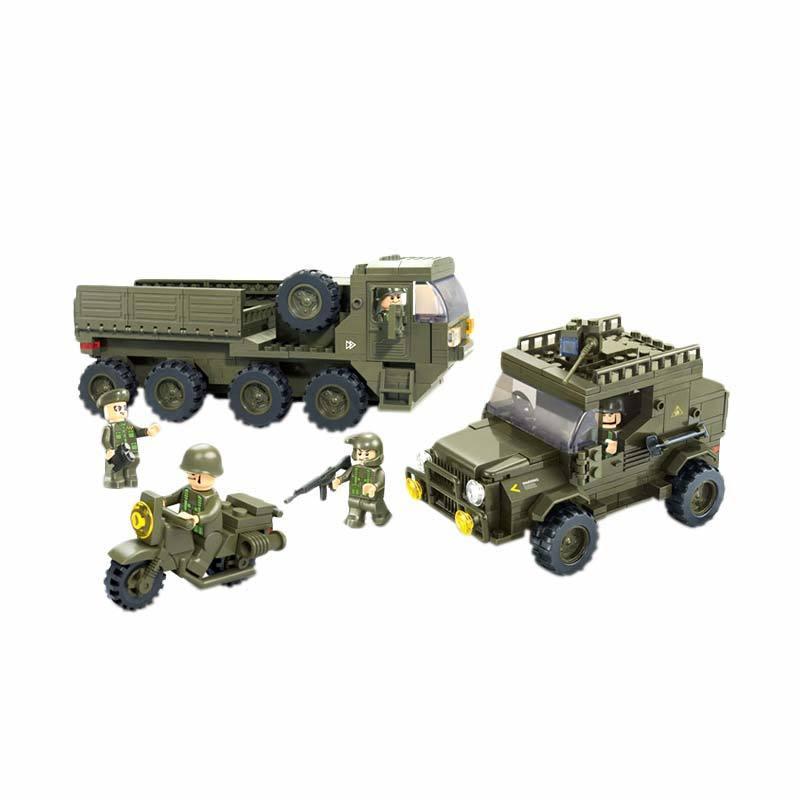 Sluban Land Force II Service Troops - Mainan Rakit