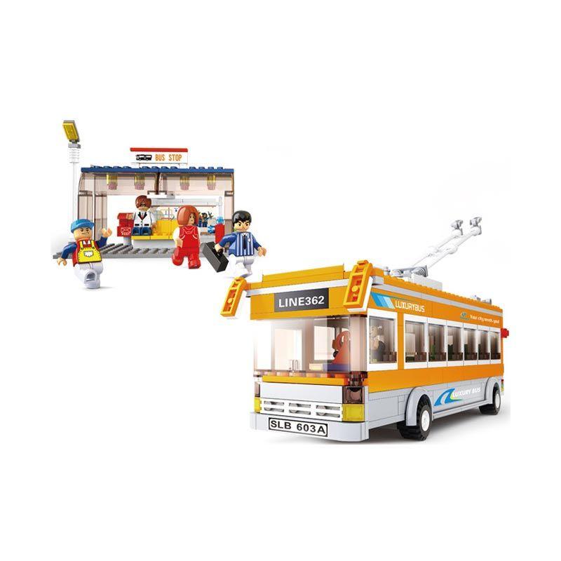 Sluban Trolley Bus - Mainan Rakit