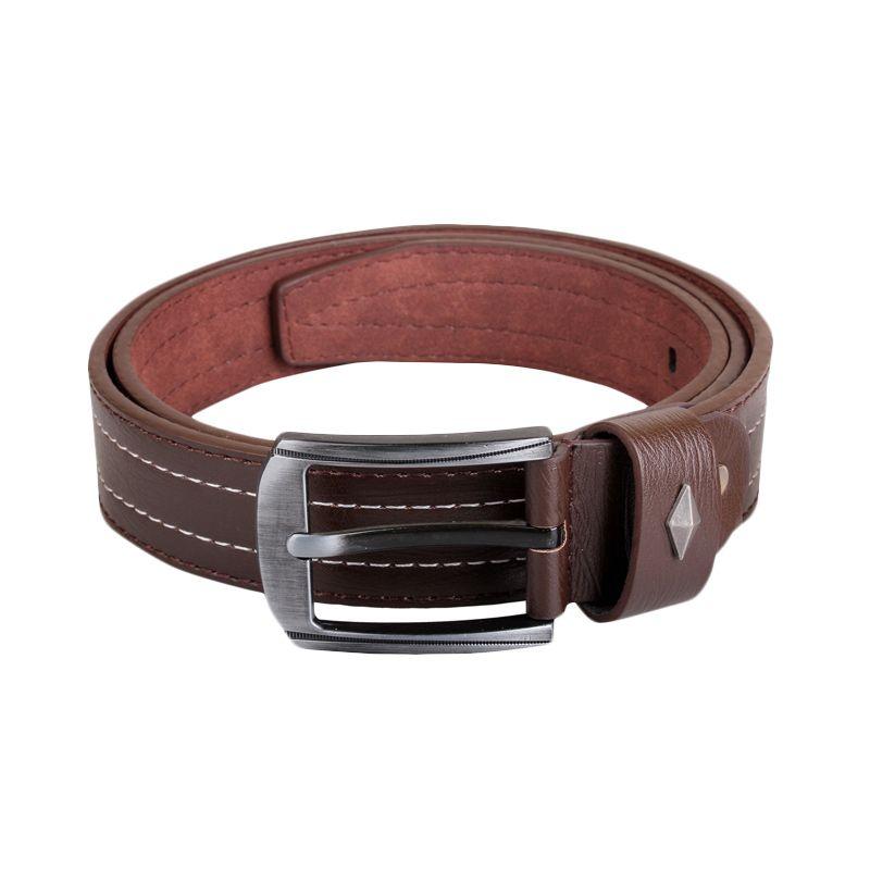 Sogno Kuitband Leather 0090 Coklat Ikat Pinggang Pria