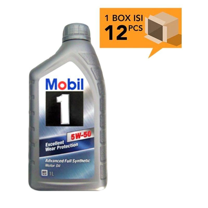 Paket Karton - Mobil 1 SAE 5W-50 Oli Pelumas [12 Pcs/1 L]