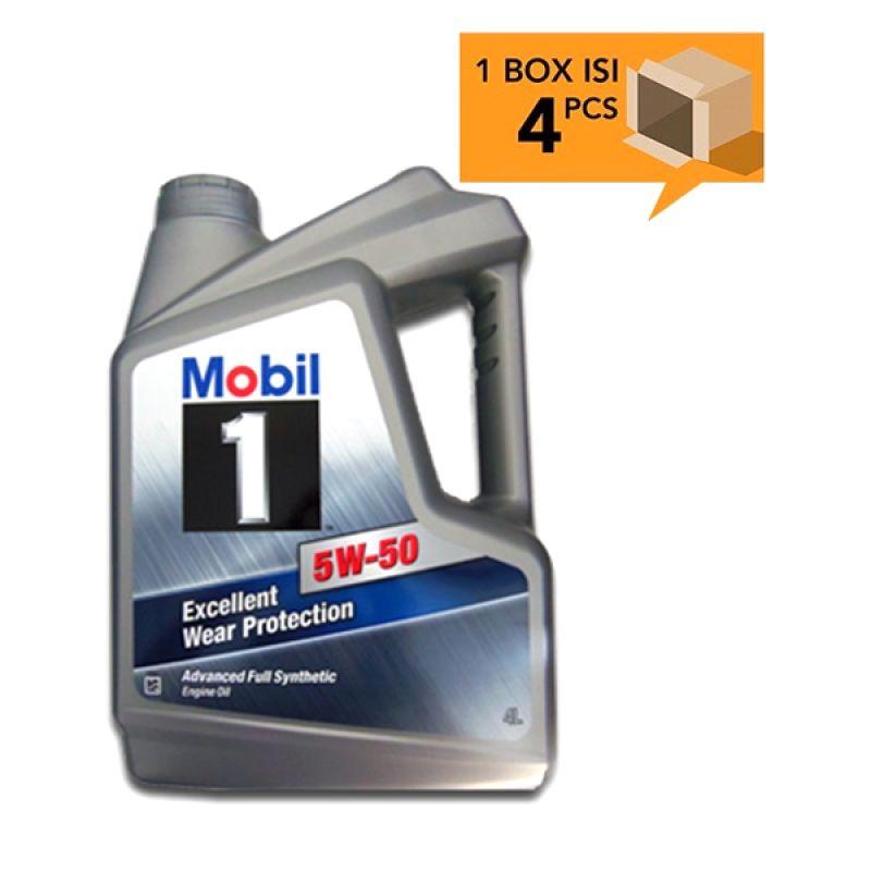 Paket Karton - Mobil 1 SAE 5W-50 Oli Pelumas [4 Pcs/4 L]