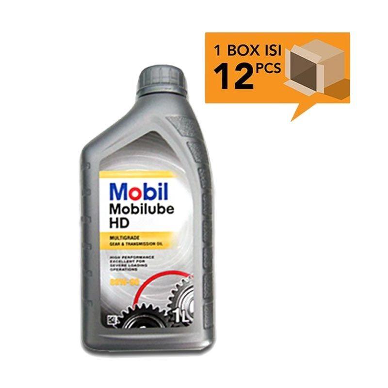 Paket Karton - Mobil Mobilube HD Premium Multi-Purpose Gear Oil SAE 80W-90 Oli Pelumas [12 Pcs/1 L]