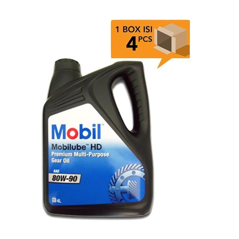Paket Karton - Mobil Mobilube HD Premium Multi-Purpose Gear Oil SAE 80W-90 Oli Pelumas [4 Pcs/4 L]