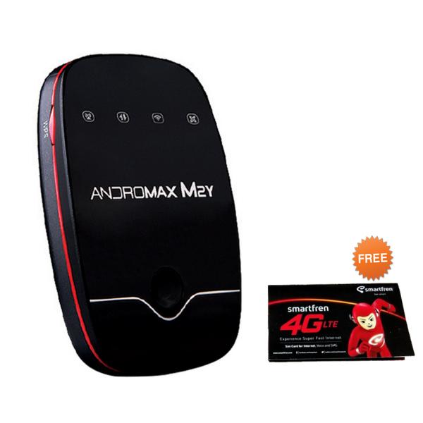 Smartfren Andromax MiFi 4G LTE M2Y Modem - Hitam [4.5 GB Data]