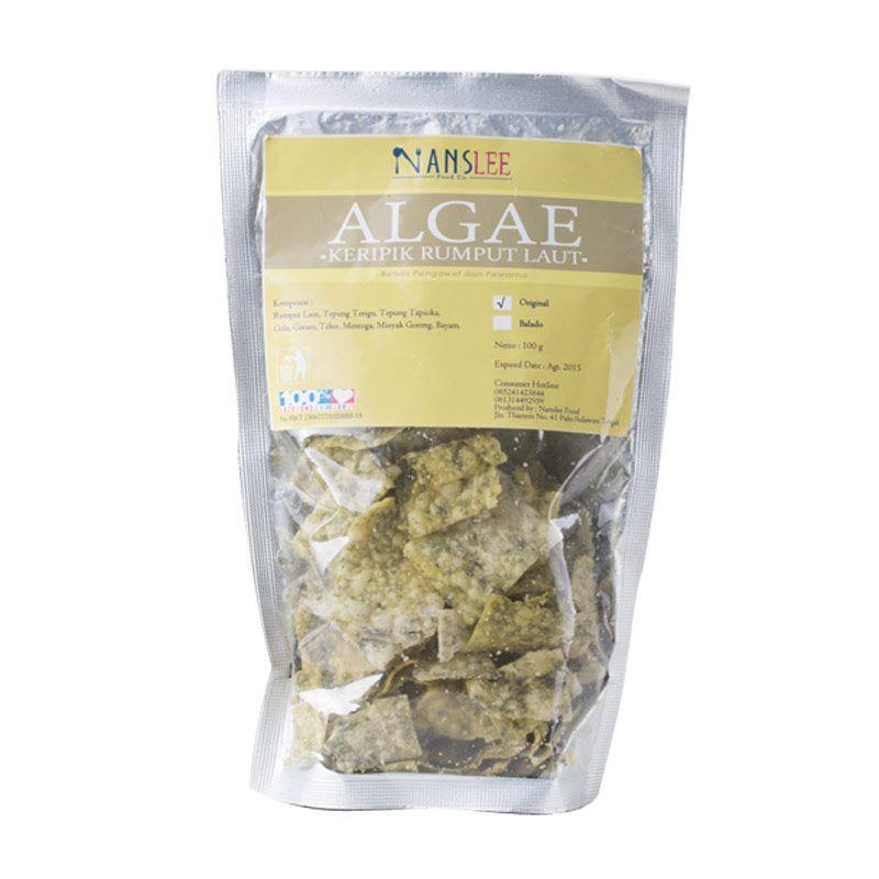 Nanslee Food Co. Algae Keripik Rumput Laut Rasa Original Makanan Instan