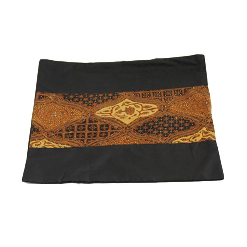 Pillow Case Batik Hitam Coklat Sarung Bantal [40 x 40 cm]