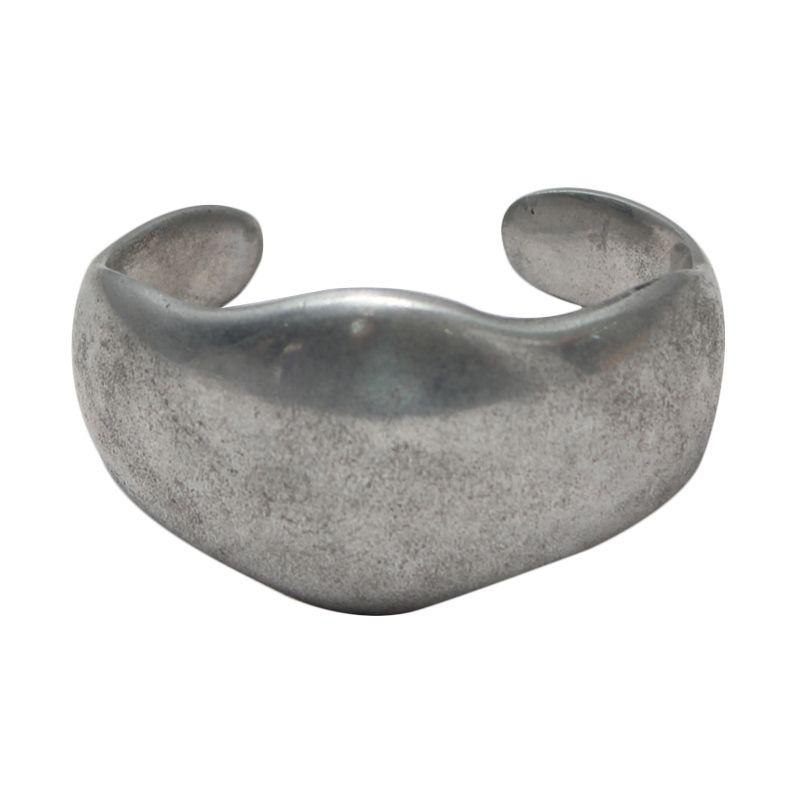 Smesco Trade Akuminium Setengah Lingkaran Silver Gelang