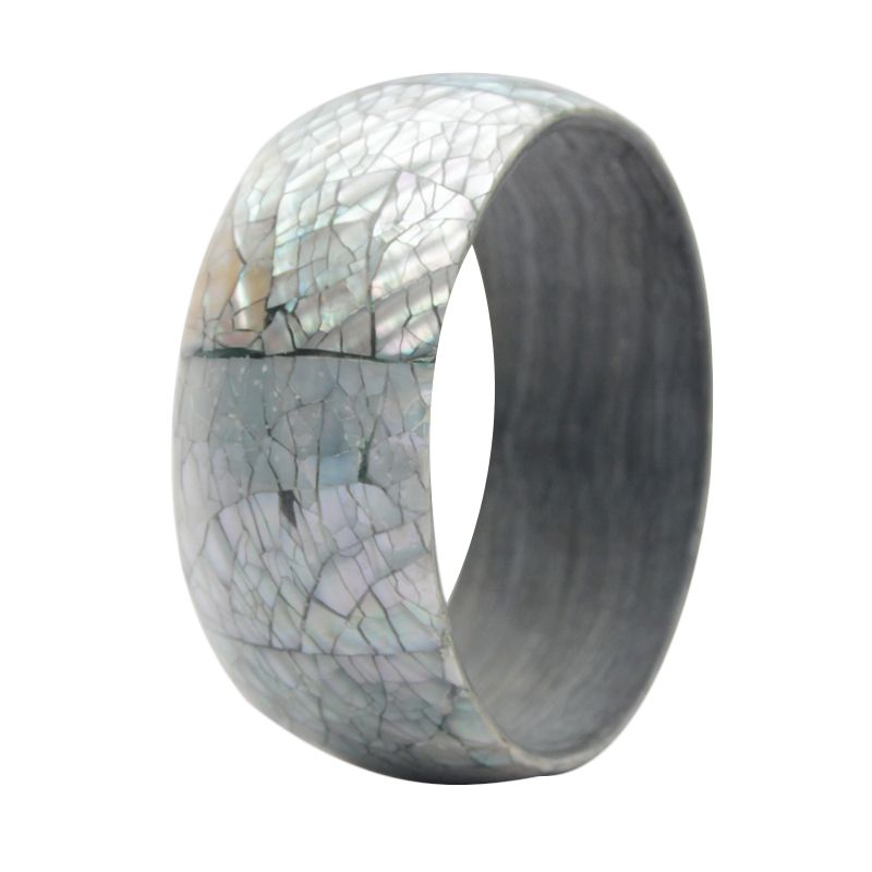 Smesco Trade Bangle Shell Silver Gelang