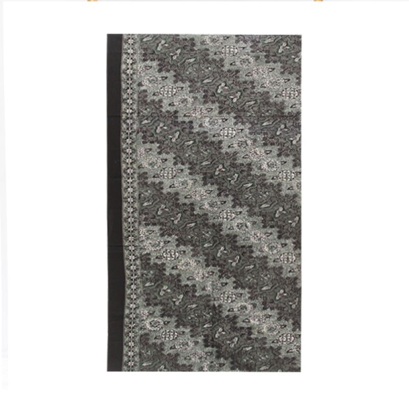 Smesco Trade Batik Cap Katun Grejekan Motif Bunga dan Daun Hitam Kain Batik