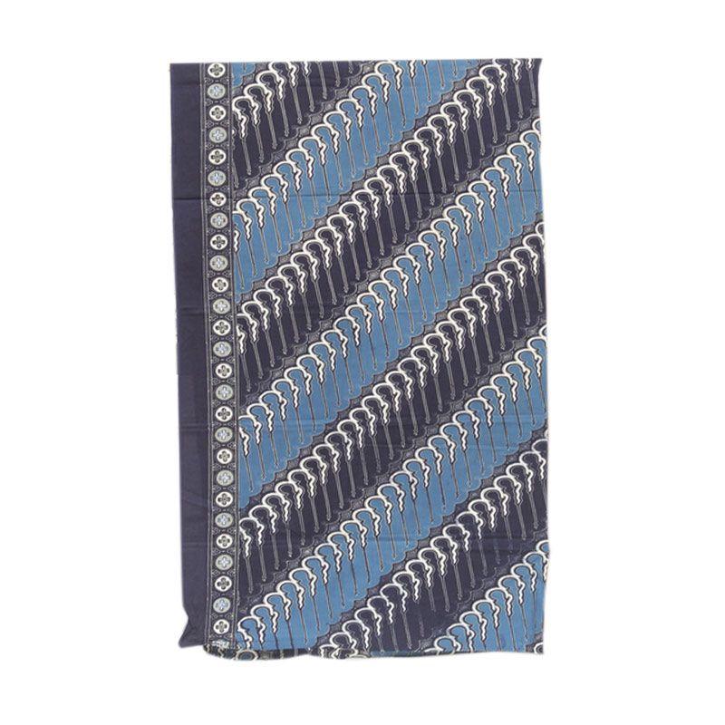 Smesco Trade Batik Cap Pekalongan Katun 2M AD Motif Parang Biru Dongker Kain Batik