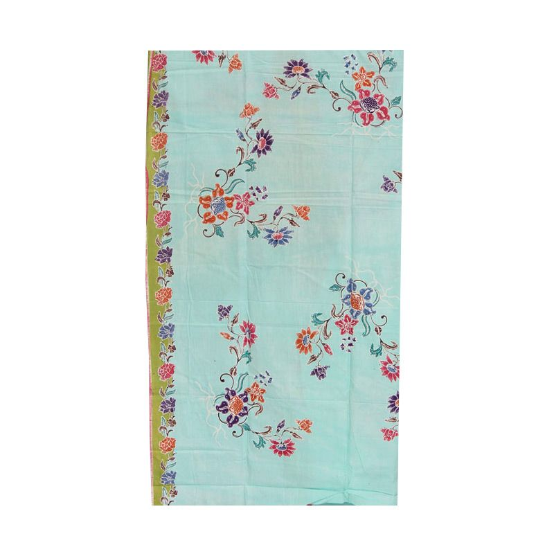 Smesco Trade Batik Cap Prima Biru Muda Kain Batik