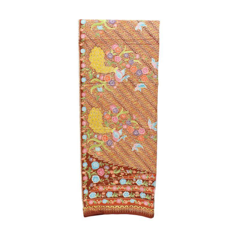 Smesco Trade Batik Tulis Motif Bunga Cokelat Kain Batik