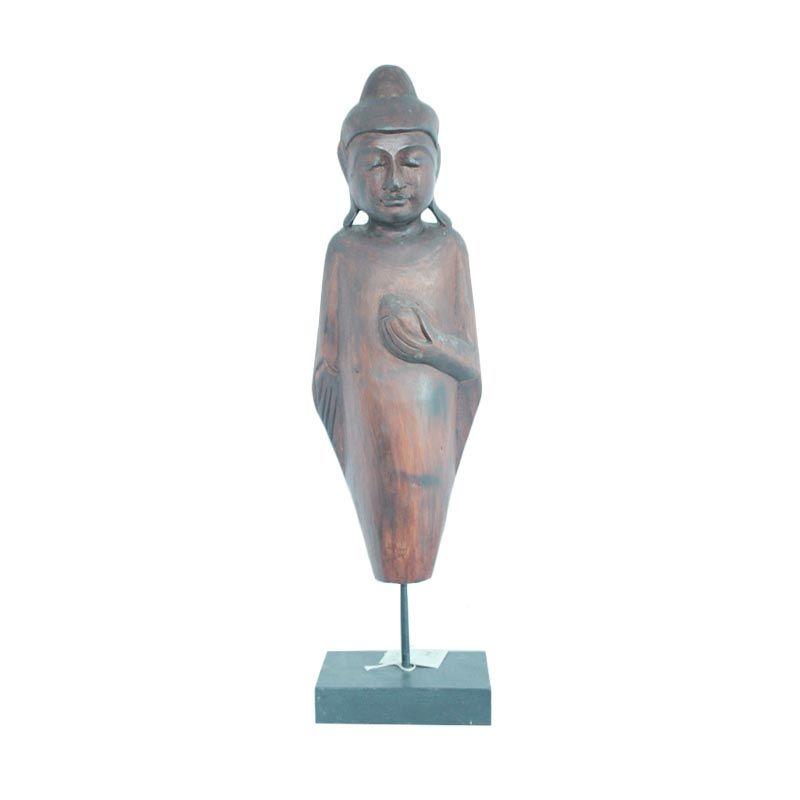 Smesco Trade Buddha Stick Coklat Hiasan Kayu