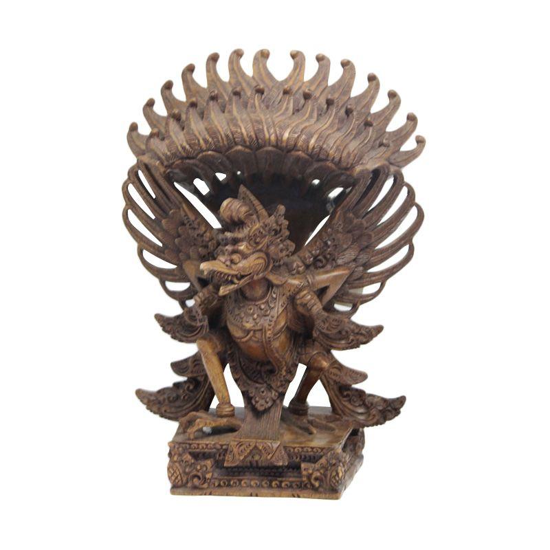 Smesco Trade Burung Garuda Coklat Kehitaman Patung Kayu