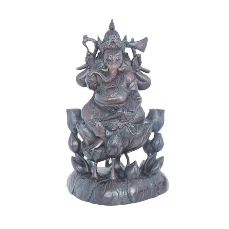 Smesco Trade Ganesha Coklat Tua Patung