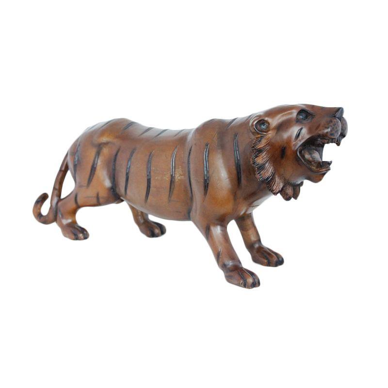 Smesco Trade Harimau Coklat Patung Kayu