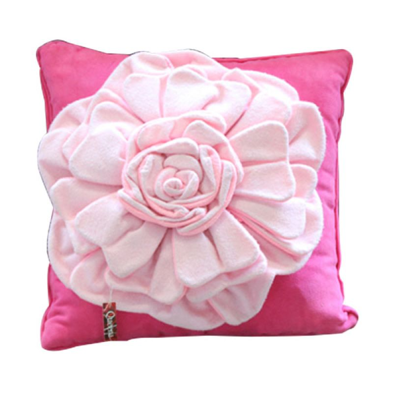 Smesco Trade Hiasan Bunga B Pink Sarung Bantal